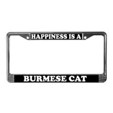 Happiness Is A Burmese Cat License Plate Frame