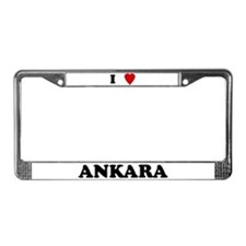 I Love Ankara License Plate Frame