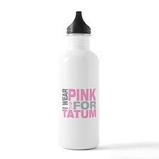 I wear pink for Tatum Sports Water Bottle