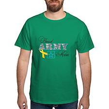 Proud Army Mom w/Ribbon T-Shirt