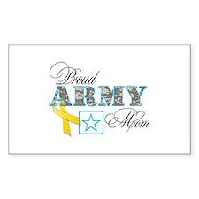 Proud Army Mom w/Ribbon Decal