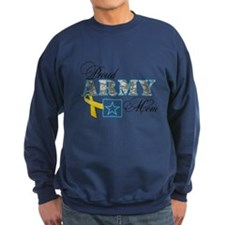 Proud Army Mom w/Ribbon Sweatshirt