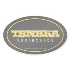 Tanaka Surfboards Oval Decal