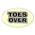 Toes Over Oval Sticker