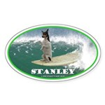 Stanley The Surfing Rat Terror Oval Sticker