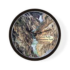Lower Falls,Yellowstone Park 2 Wall Clock
