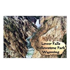 Lower Falls,Yellowstone Park 2 Postcards (Package