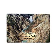 Lower Falls,Yellowstone Park 2 Rectangle Magnet