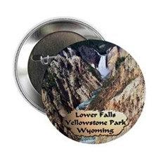 "Lower Falls,Yellowstone Park 2 2.25"" Button ("