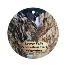 Lower Falls,Yellowstone Park 2 Ornament (Round)