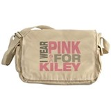 I wear pink for Kiley Messenger Bag