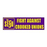 FIGHT TEACHERS UNIONS 42x14 Wall Peel