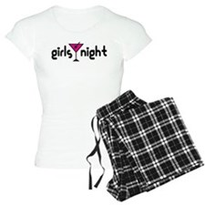 Girls Night Pink Martini Logo Pajamas