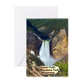 Lower Falls, Yellowstone Park 3 Greeting Card