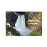 Lower Falls, Yellowstone Park 3 Rectangle Magnet
