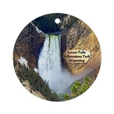 Lower Falls, Yellowstone Park 3 Ornament (Round)