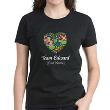 Twilight Mom Floral Heart Women's Dark T-Shirt