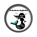 Cute Mermaid Muriel MacBubble Wall Clock
