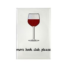More Book Club Please Rectangle Magnet