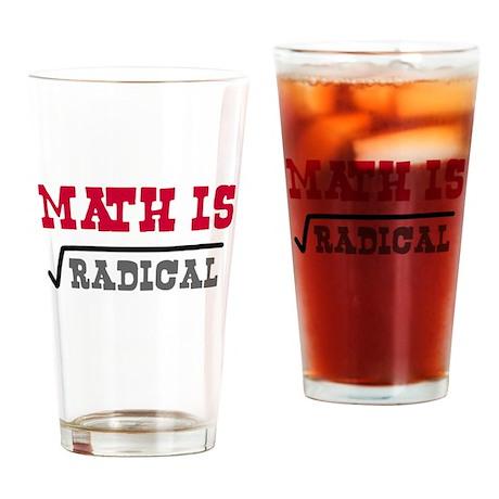 Math is Radical Drinking Glass