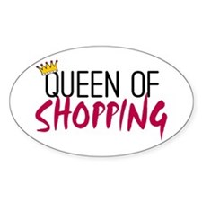 'Queen of Shopping' Decal