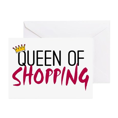'Queen of Shopping' Greeting Cards (Pk of 10)