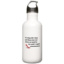 Shop Till I Drop Water Bottle