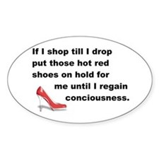 Shop Till I Drop Decal