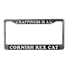 Happiness Is A Cornish Rex Cat License Plate Frame