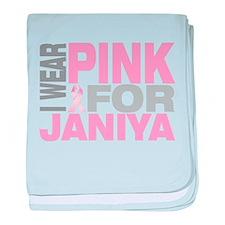 I wear pink for Janiya baby blanket
