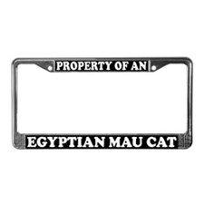 Property Of Egyptian Mau Cat License Plate Frame
