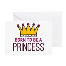 'Born Princess' Greeting Card