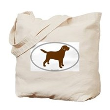 Chocolate Lab Outline Tote Bag