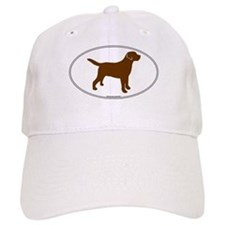 Chocolate Lab Outline Baseball Cap