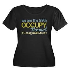 Occupy Normal Women's Plus Size Scoop Neck Dark T-