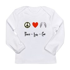 Peace - Love - Cas Long Sleeve Infant T-Shirt