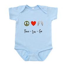 Peace - Love - Cas Infant Bodysuit