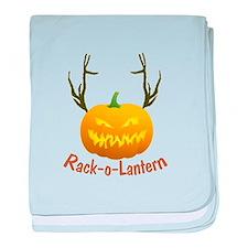 Funny Jack O Lantern baby blanket
