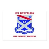 DUI - 1st Bn - 18th Infantry Regt with Text Postca