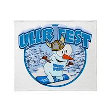 UllrFest Snowboarder Throw Blanket