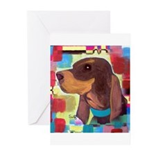 Black and Tan Coonhound Greeting Cards (Pk of 10)
