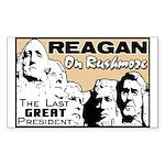 """Reagan On Rushmore"" Sticker"