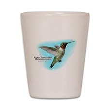 Ruby-Throated Hummingbird Shot Glass