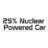 Nuclear Powered Car Bumper Sticker