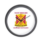 DUI - 701st Bde - Support Bn with Text Wall Clock