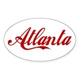 ATLANTA SCRIPT Oval Decal