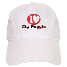 I Love My Puggle Baseball Cap