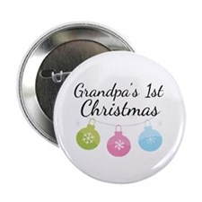 "Grandpa's 1st Christmas 2.25"" Button (10 pack)"