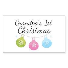 Grandpa's 1st Christmas Decal