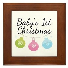 Baby's 1st Christmas Framed Tile